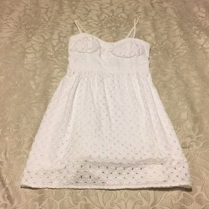 American Eagle Outfitters white eyelet sundress